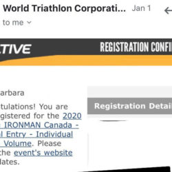 I signed up for Ironman Canada 2020.
